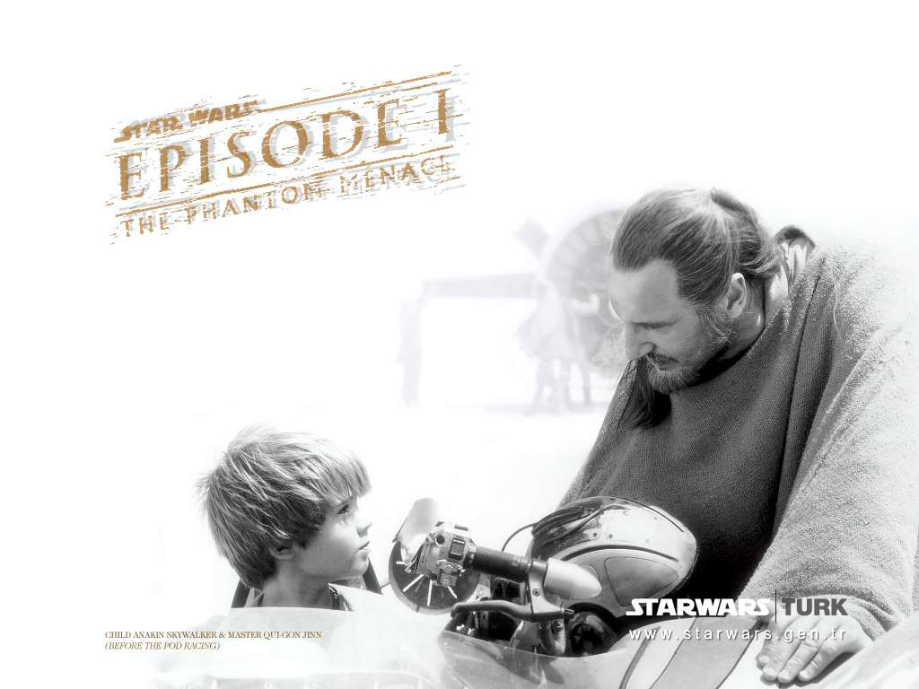 Star Wars Wallpaper: Child Anakim and Master Qui-Gon Jinn