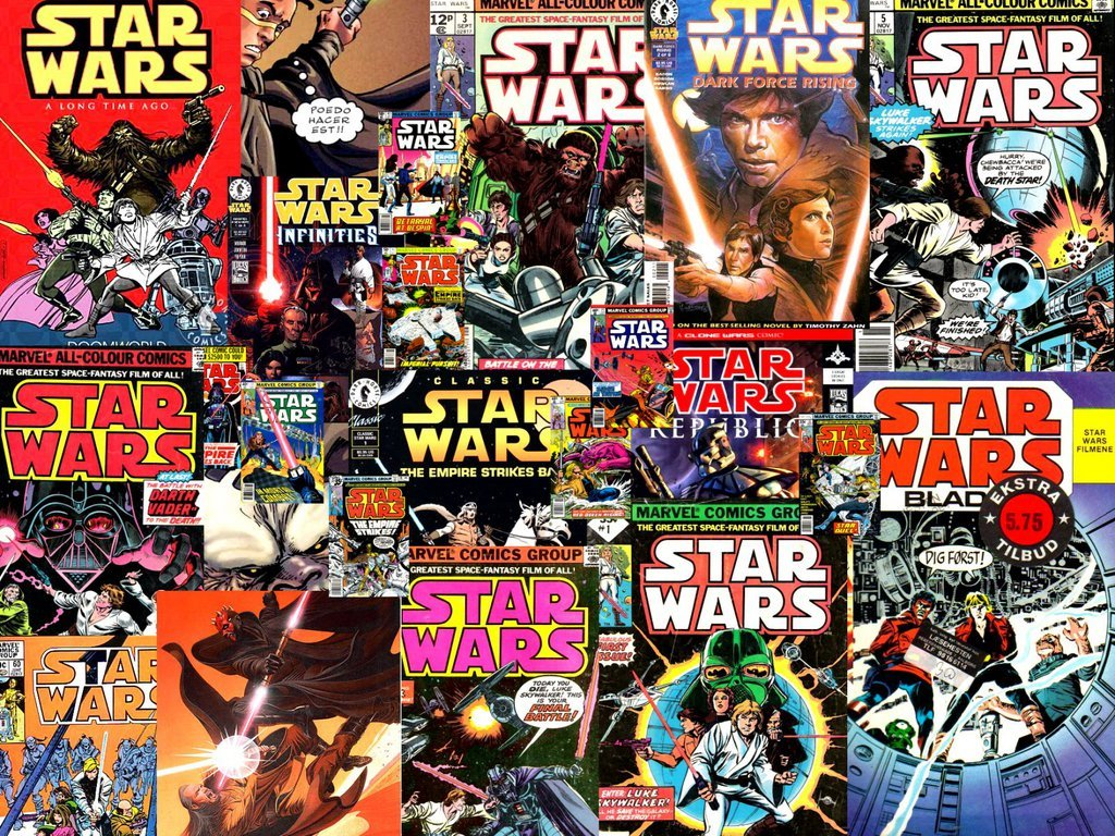 Star Wars Wallpaper: Classic Star Wars Comic Covers