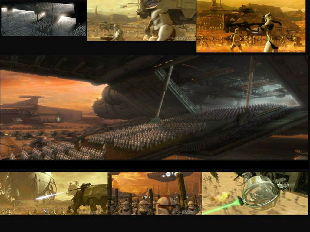 Star Wars Wallpaper: Clone Troops - Collage