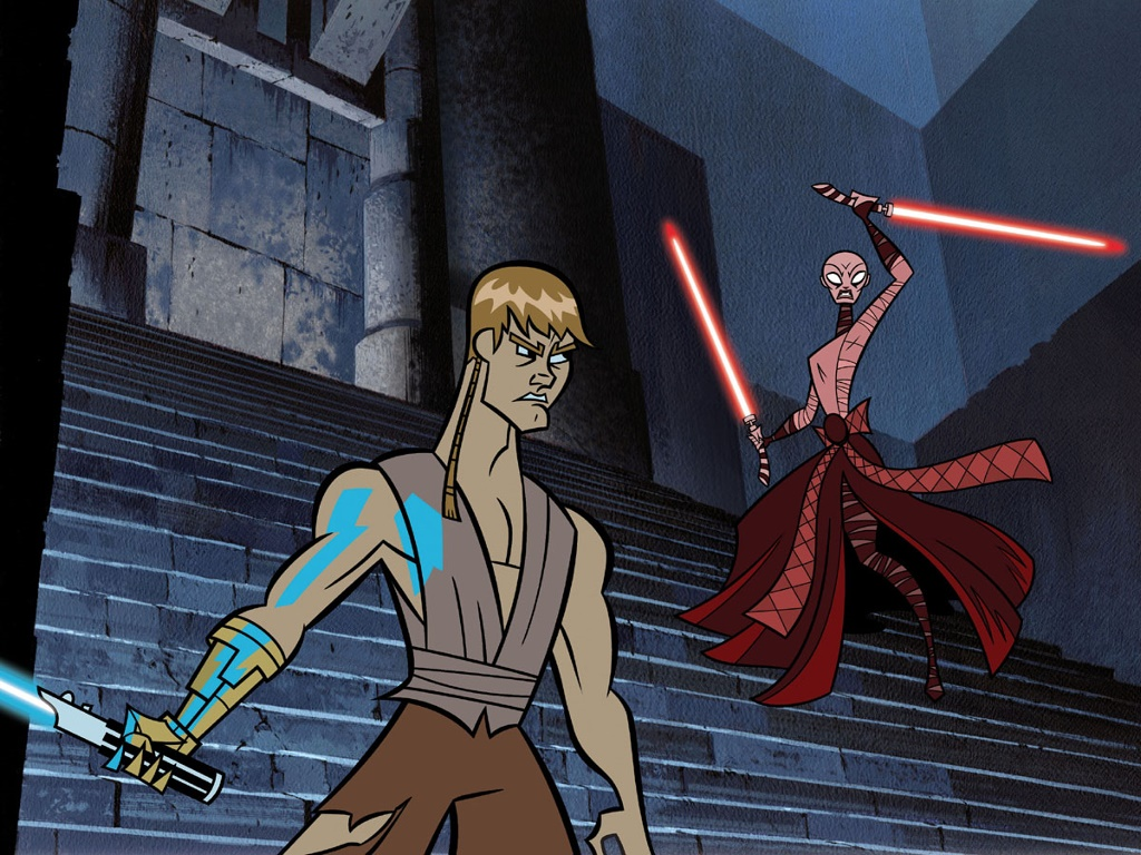 Star Wars Wallpaper: Clone Wars - Anakin vs Asajj