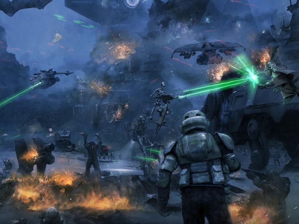 Star Wars Wallpaper: Clone Wars - Battle