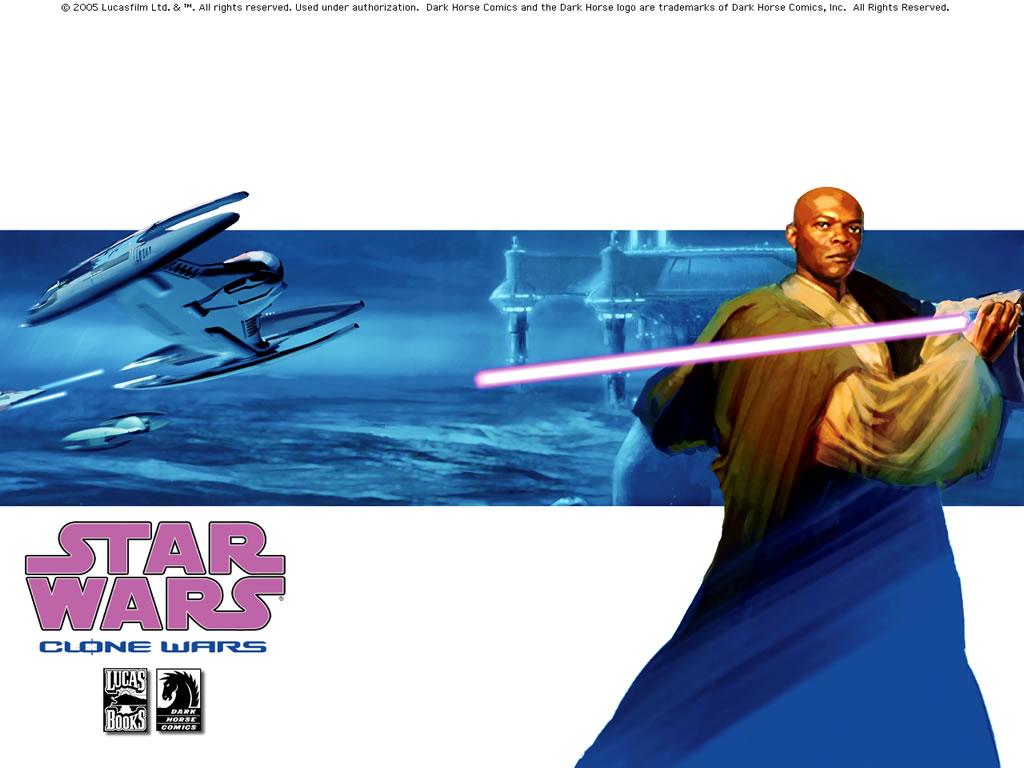 Star Wars Wallpaper: Clone Wars (Comics) - Mace Windu