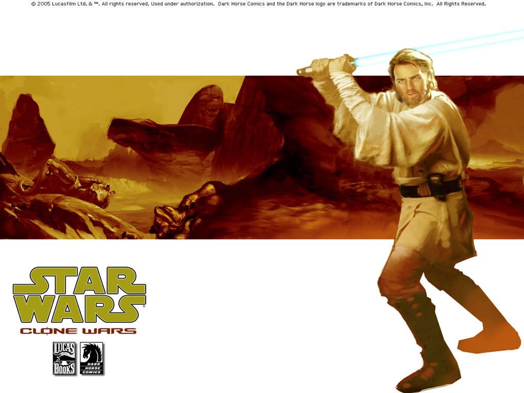 Star Wars Wallpaper: Clone Wars (Comics) - Obi-Wan Kenobi