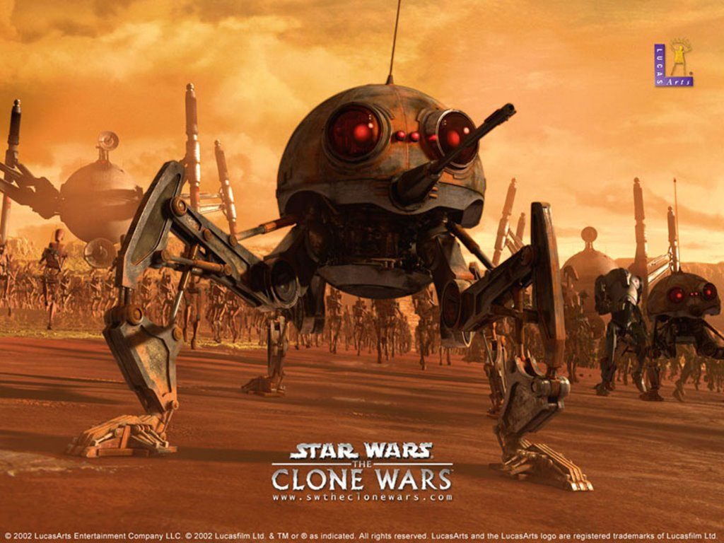 Star Wars Wallpaper: Clone Wars - Drones