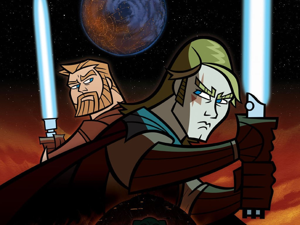 Star Wars Wallpaper: Clone Wars - Master and Apprentice