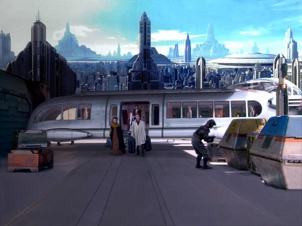 Star Wars Wallpaper: Coruscant - Transport