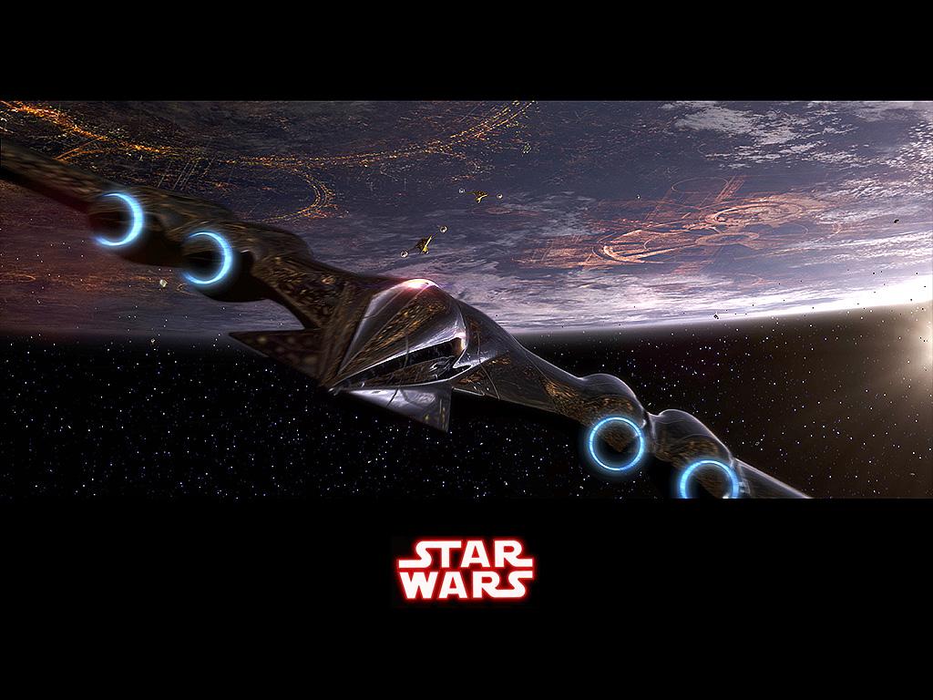 Star Wars Wallpaper: Coruscant - Approach