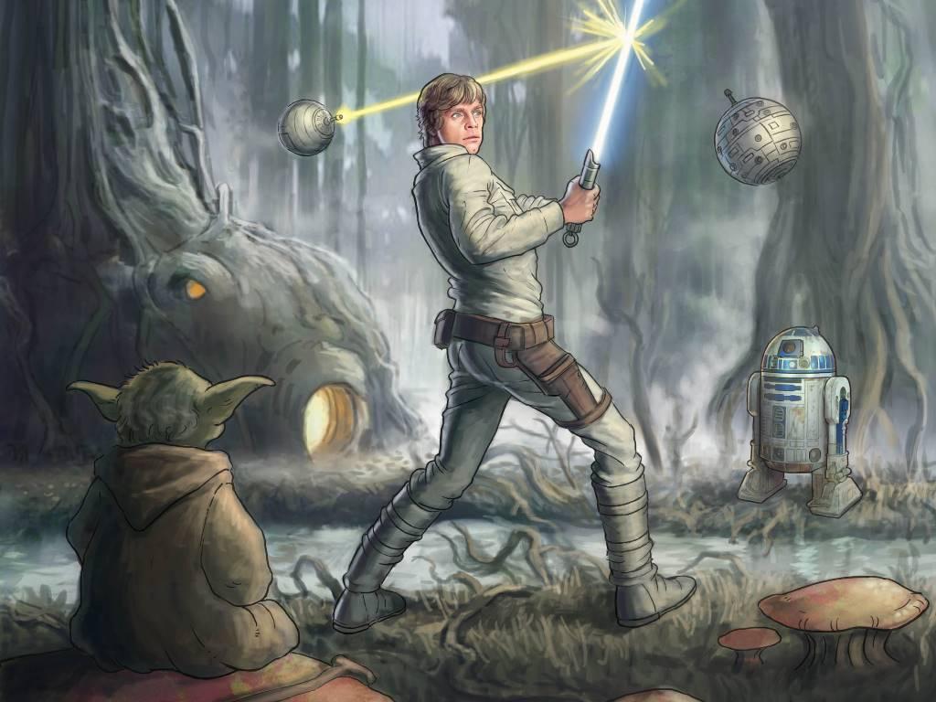 Star Wars Wallpaper: Dagobah - Training
