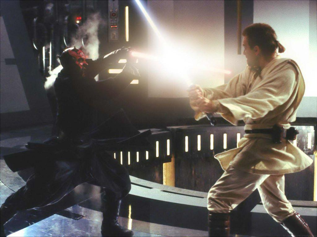 Star Wars Wallpaper: Darth Maul vs Obi-Wan Kenobi