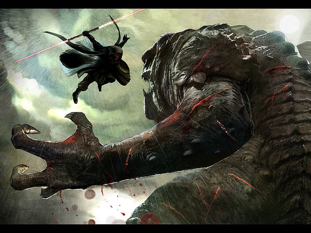 Star Wars Wallpaper: Darth Maul vs Rancor
