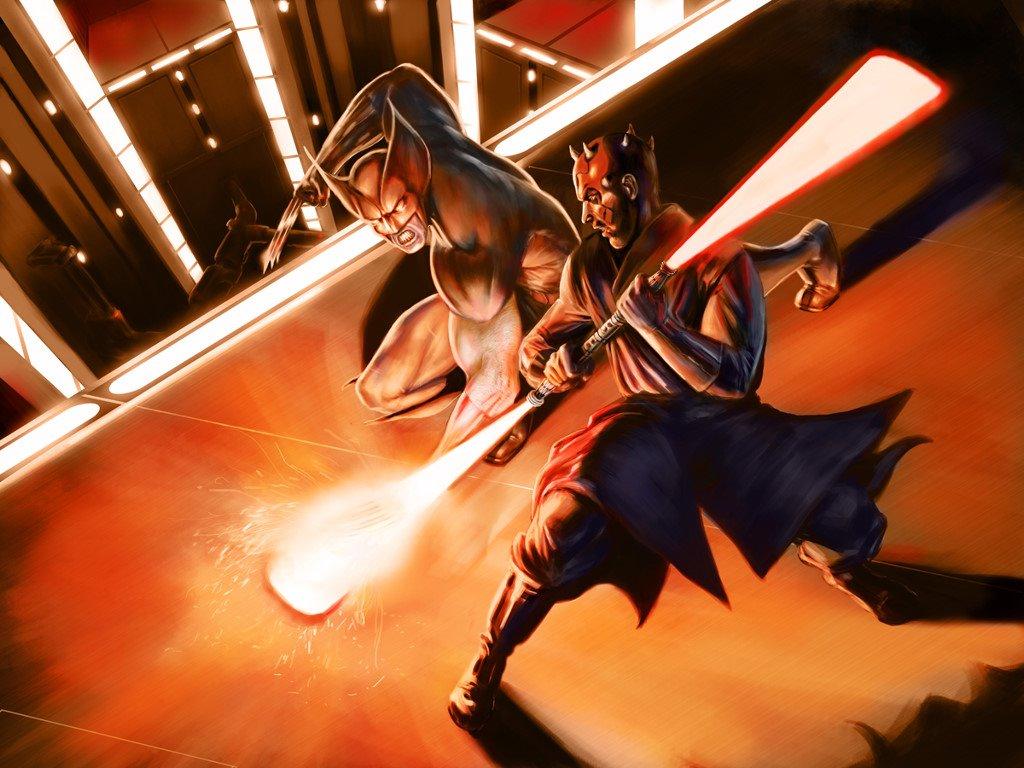Star Wars Wallpaper: Darth Maul vs Wolverine