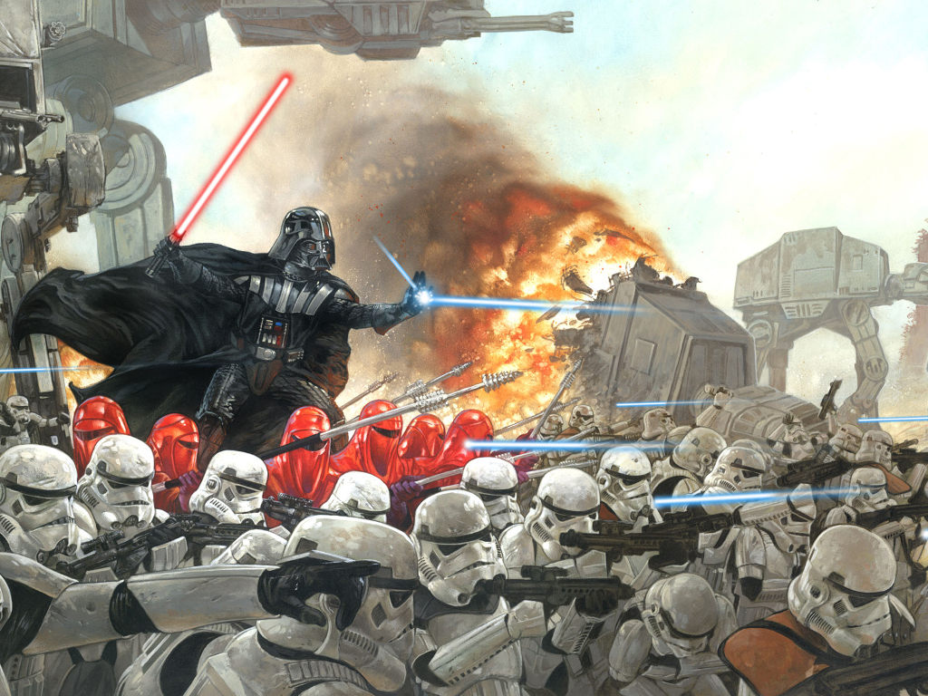 Star Wars Wallpaper: Darth Vader - In Battle