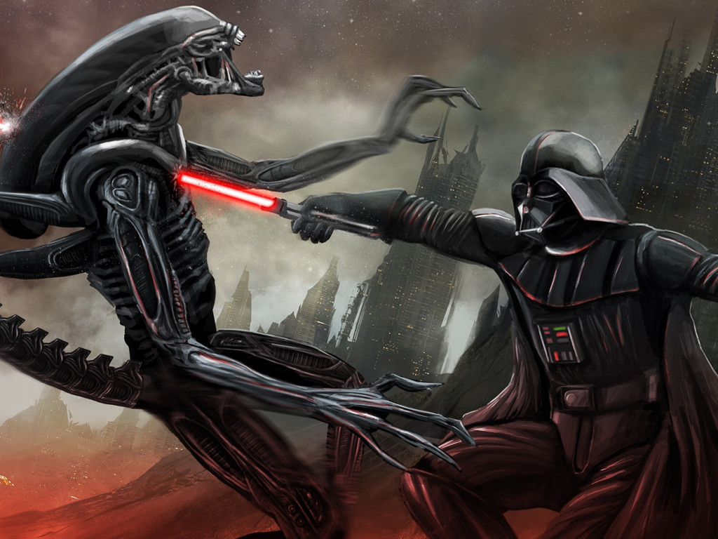 Star Wars Wallpaper: Darth Vader vs Alien