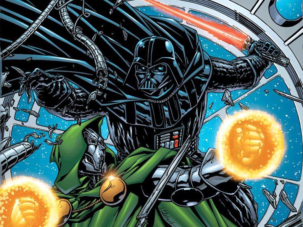 Star Wars Wallpaper: Darth Vader vs Doctor Doom
