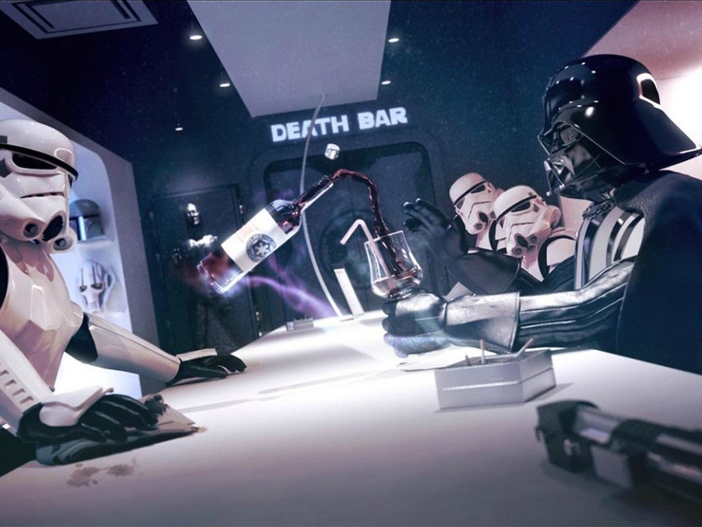 Star Wars Wallpaper: Death Star - Bar