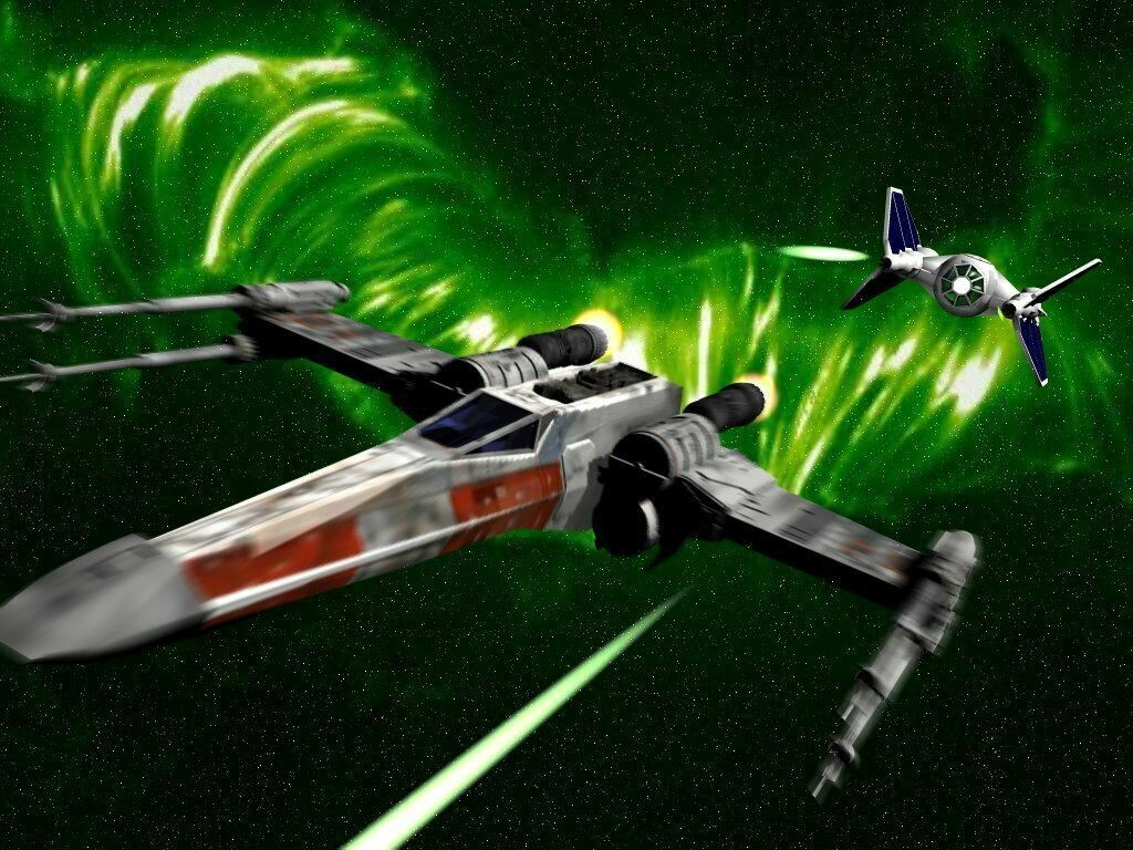 Star Wars Wallpaper: X-Wing vs Tie Fighter