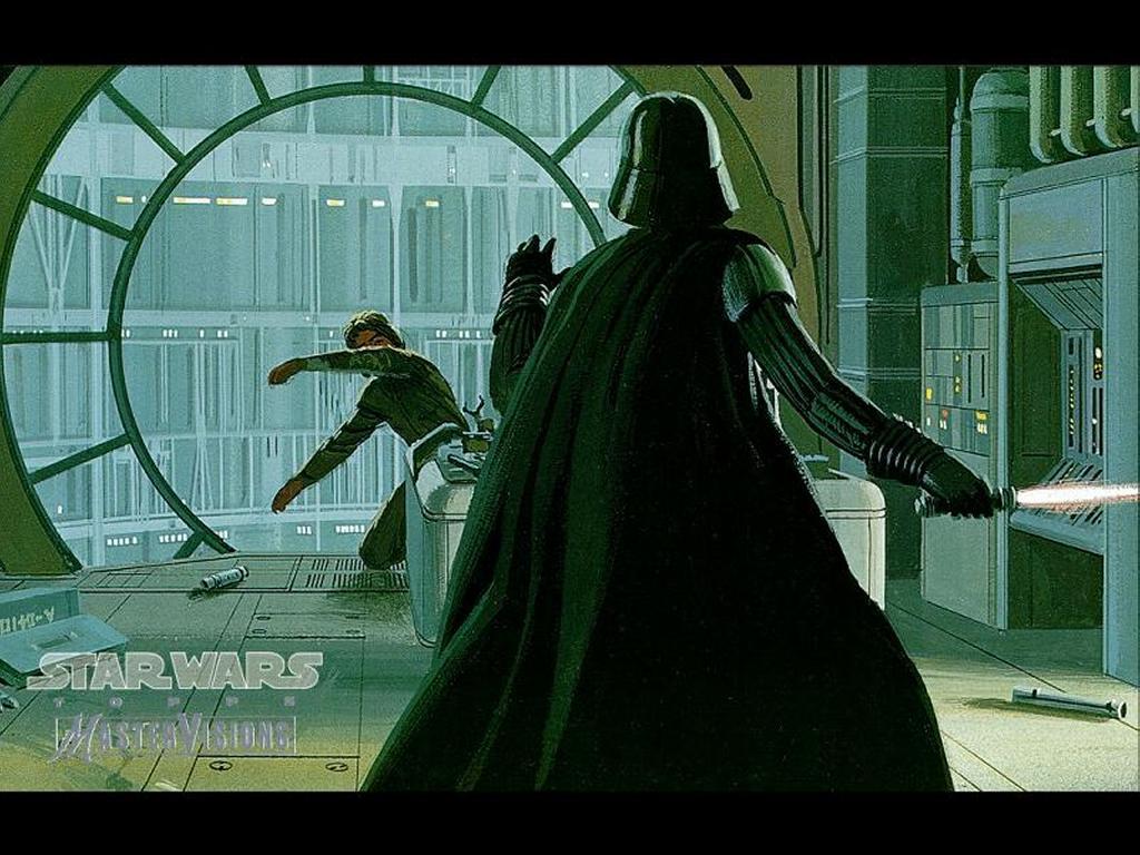 My Free Wallpapers Star Wars Wallpaper Drawning Vader Vs Luke Again