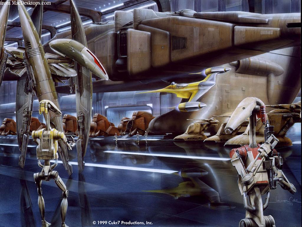 Star Wars Wallpaper: Droid Hangar