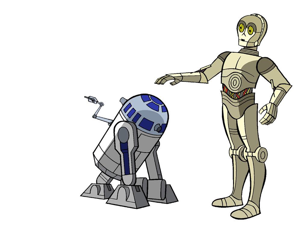 Star Wars Wallpaper: Droids - Cartoon