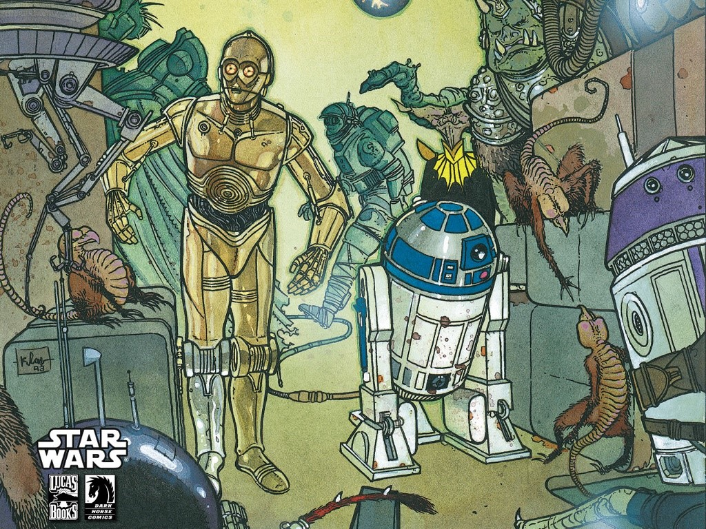 Star Wars Wallpaper: Droids - Dark Horse Comics