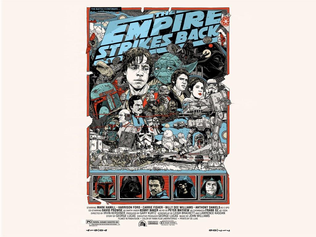 Star Wars Wallpaper: Star Wars - Empire Strikes Back (Alt Poster)