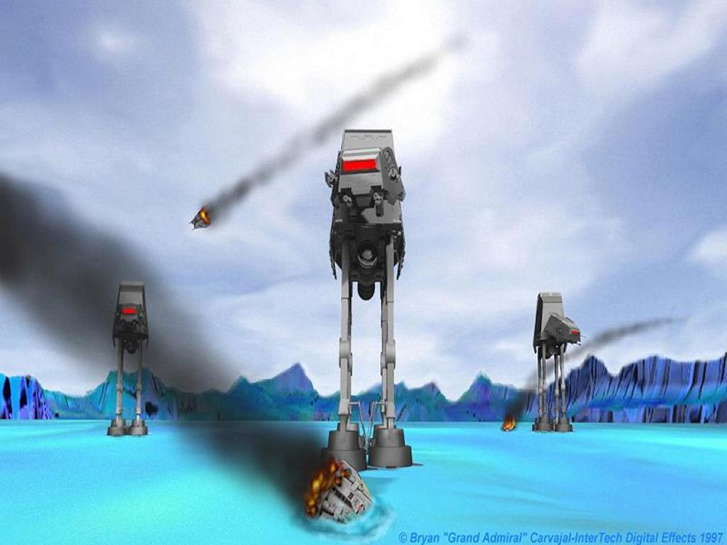 Star Wars Wallpaper: Empire Strikes in Hoth