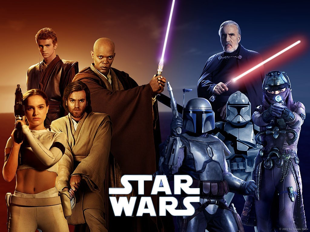 Star Wars Wallpaper: Episode II - Attack of the Clones (Good vs Evil)