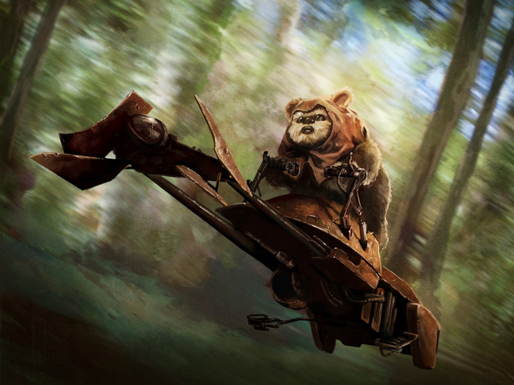 Star Wars Wallpaper: Ewok - Speedster