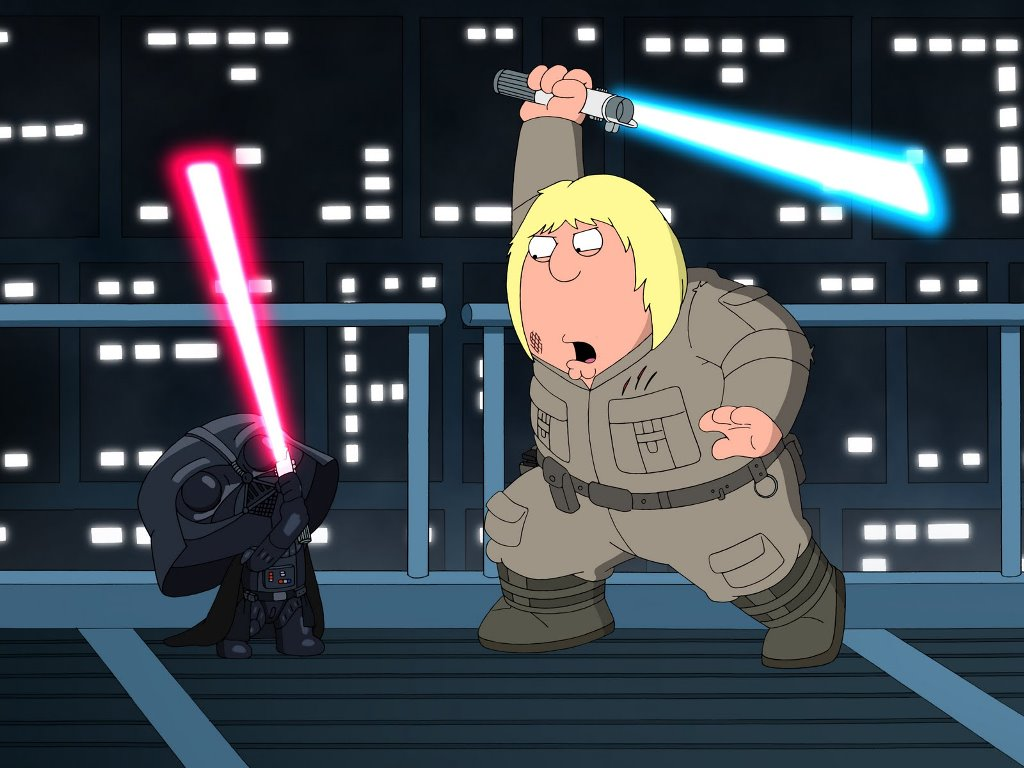 Star Wars Wallpaper: Family Guy - Lightsaber Duel