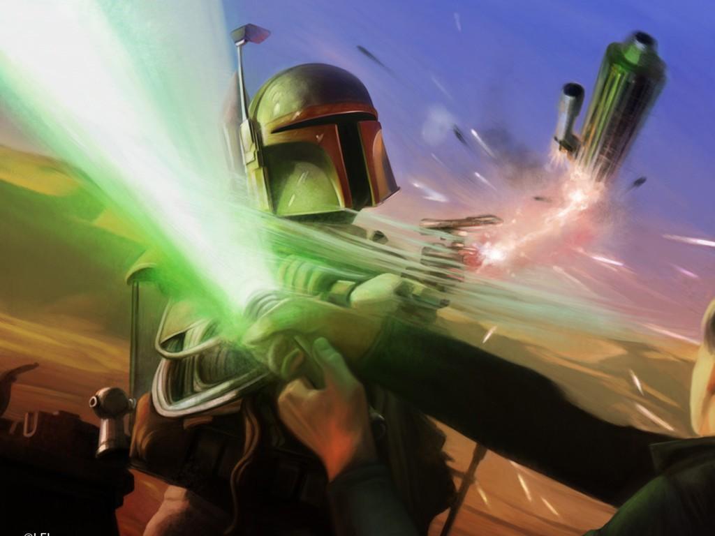 Star Wars Wallpaper: Fett vs Luke
