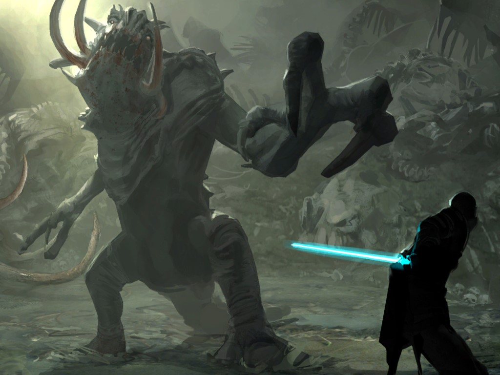 Star Wars Wallpaper: The Force Unleashed - Rancor