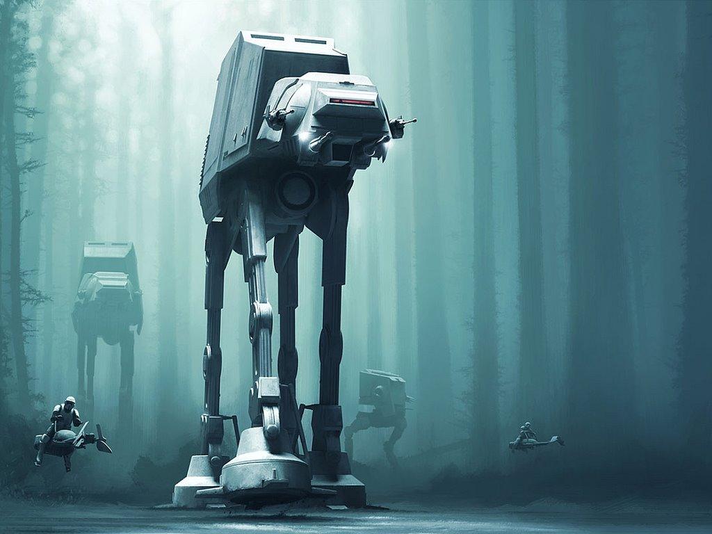 Star Wars Wallpaper: Forest Patrol