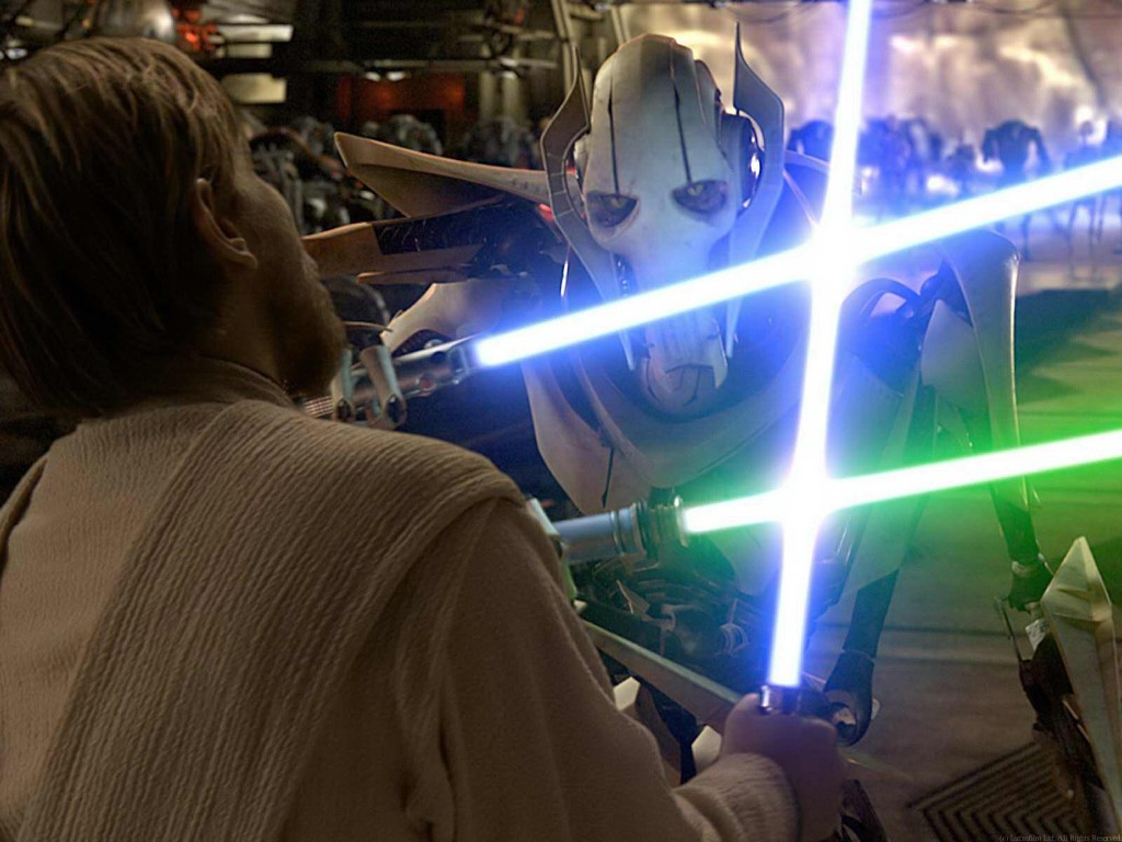 Star Wars Wallpaper: General Grievous vs Obi-Wan Kenobi