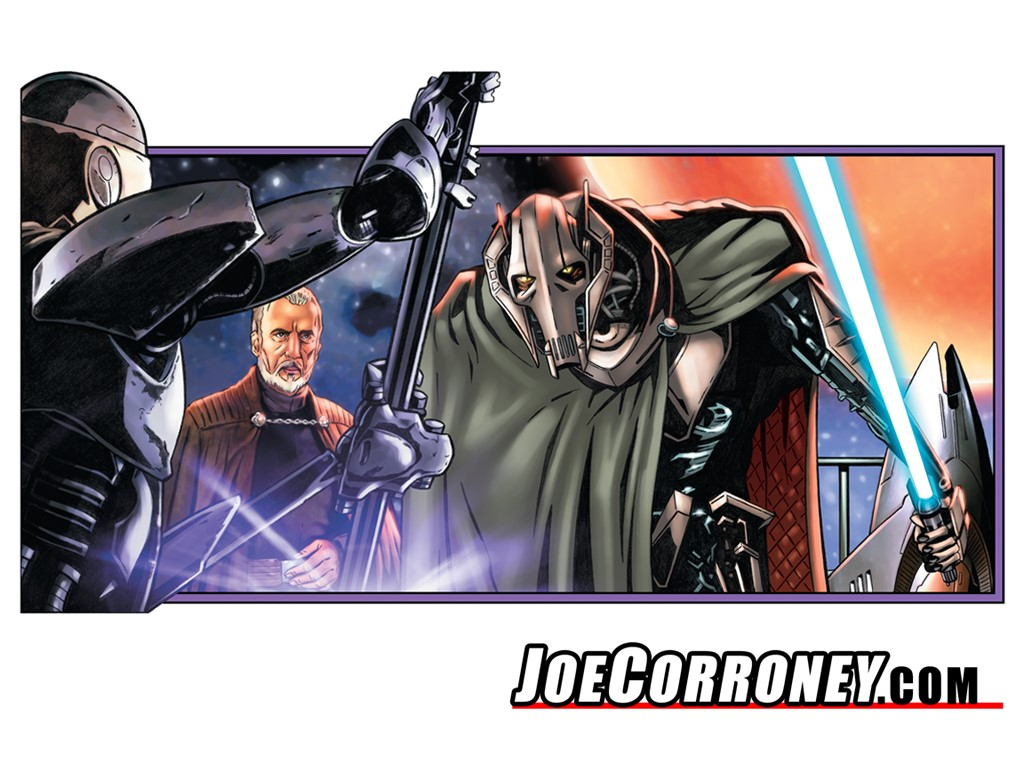 Star Wars Wallpaper: Grievous (by Joe Corroney)