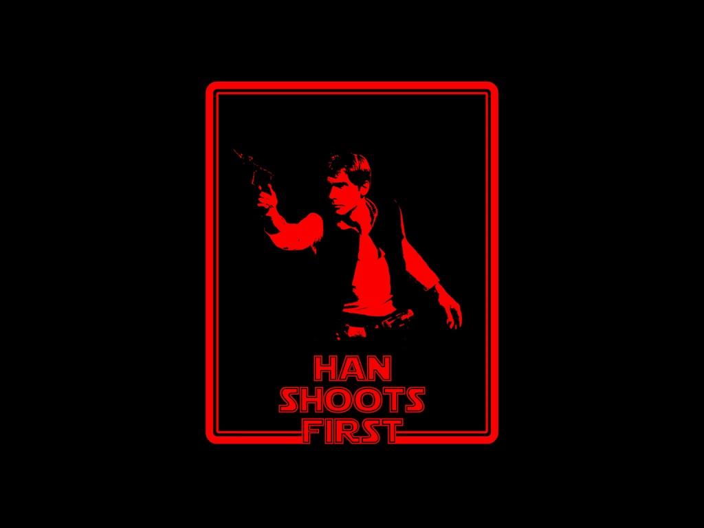 Star Wars Wallpaper: Han Shoots First