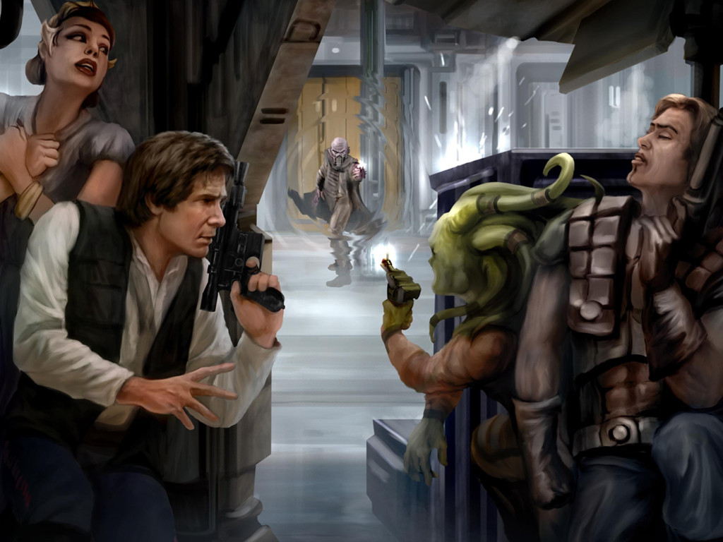 Star Wars Wallpaper: Han Solo - Ambush