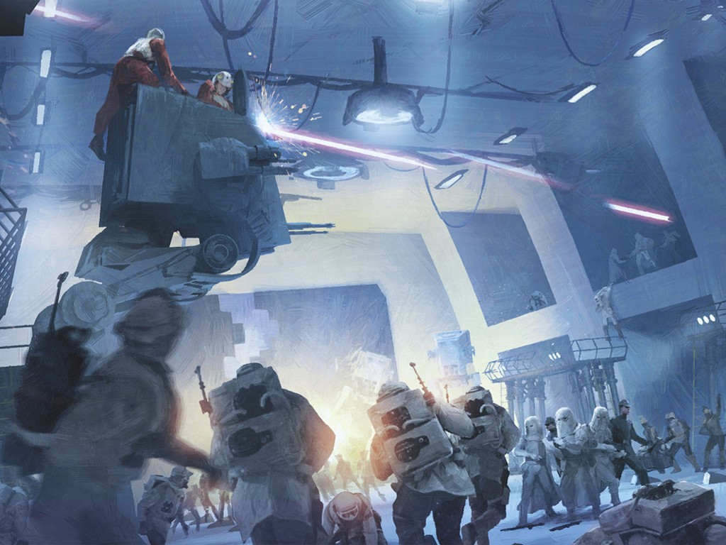 Star Wars Wallpaper: Hoth - Close Combat
