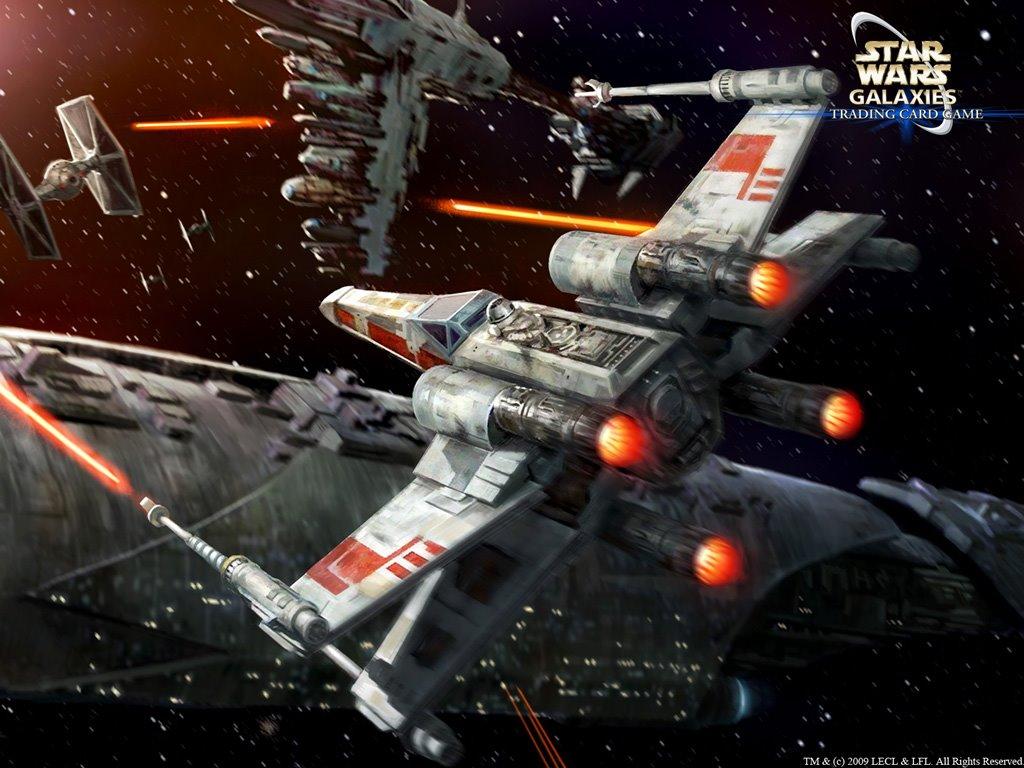 Star Wars Wallpaper: X-Wing (by Darren Tan)