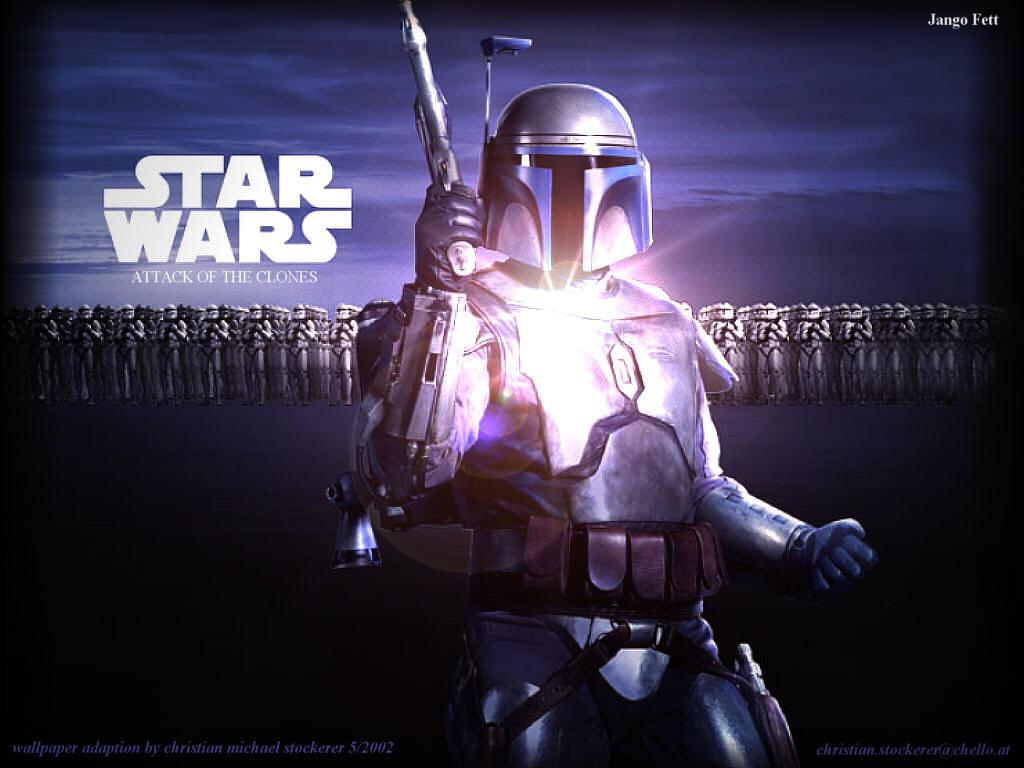 Star Wars Wallpaper: Jango Fett and the Clones