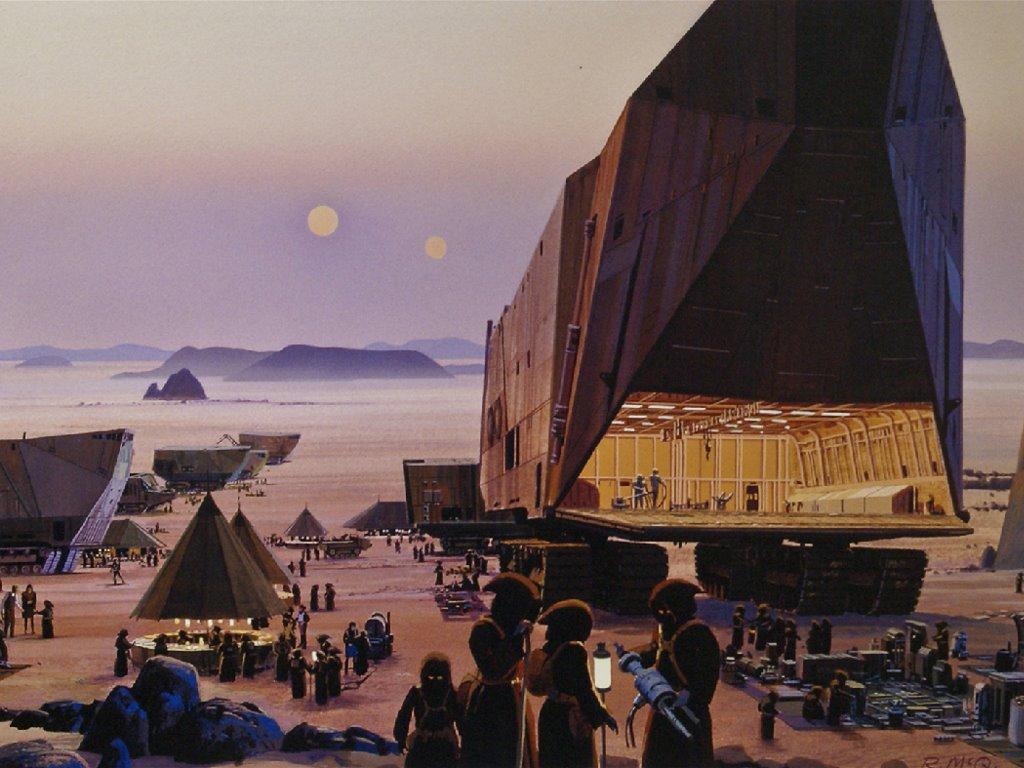 Star Wars Wallpaper: Jawas Camp