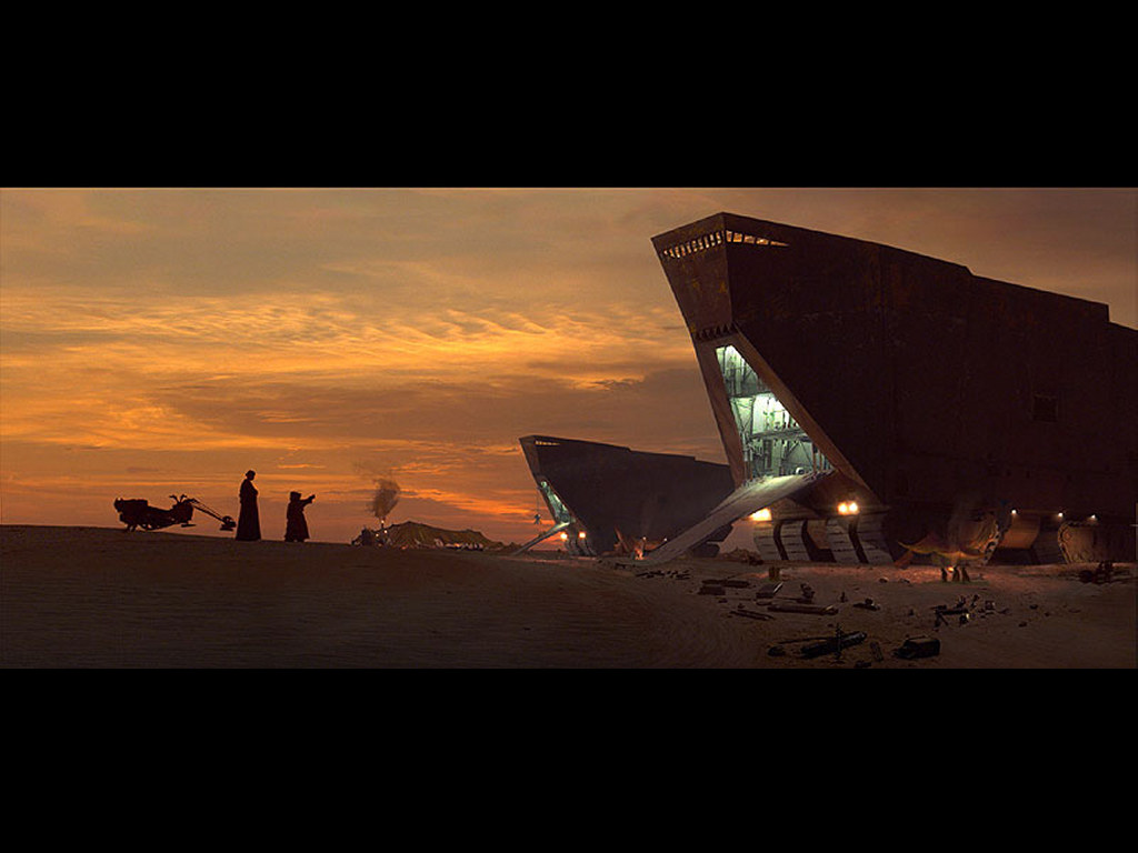 Star Wars Wallpaper: Jawas - Transport
