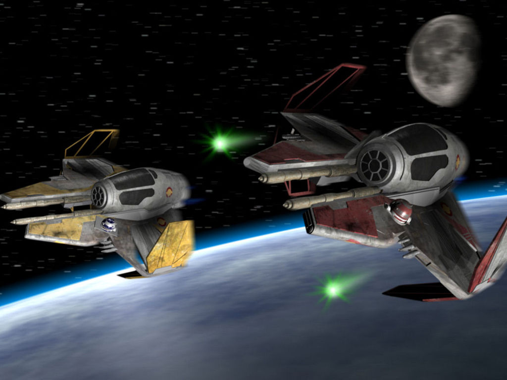 Star Wars Wallpaper: Jedi Starfighters