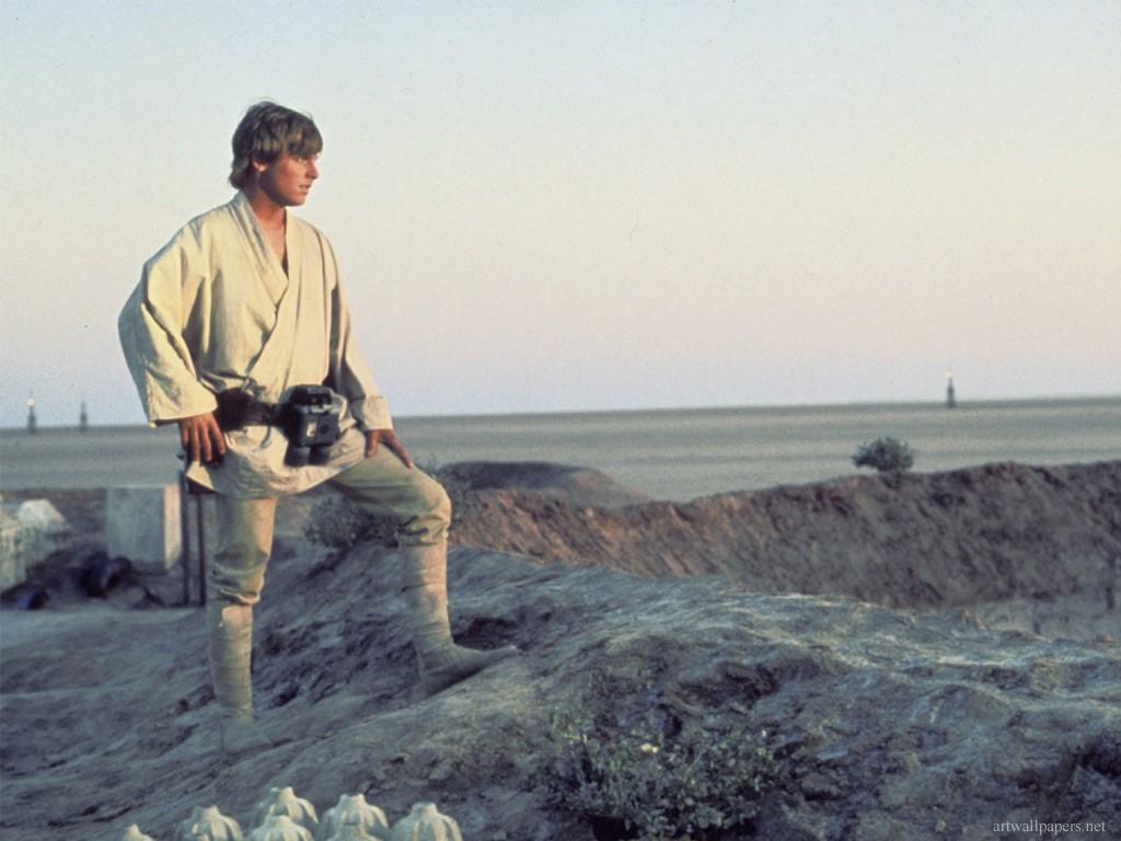 Star Wars Wallpaper: Luke Skywalker - Tatooine