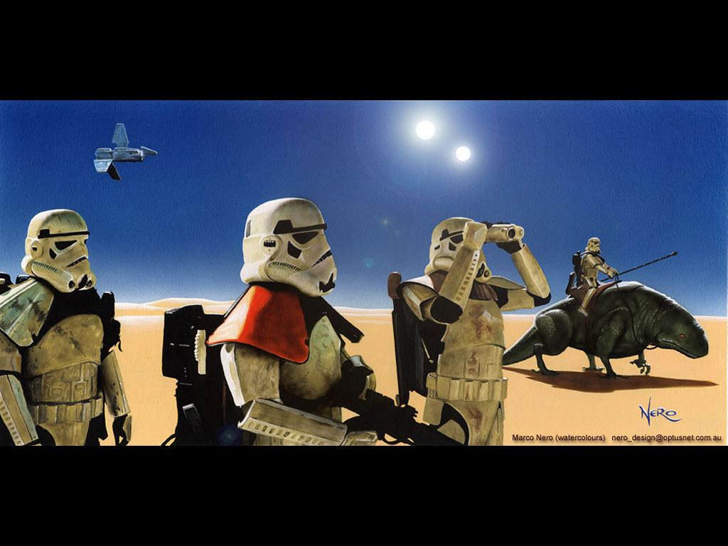 Star Wars Wallpaper: Marco Nero - Desert Troopers