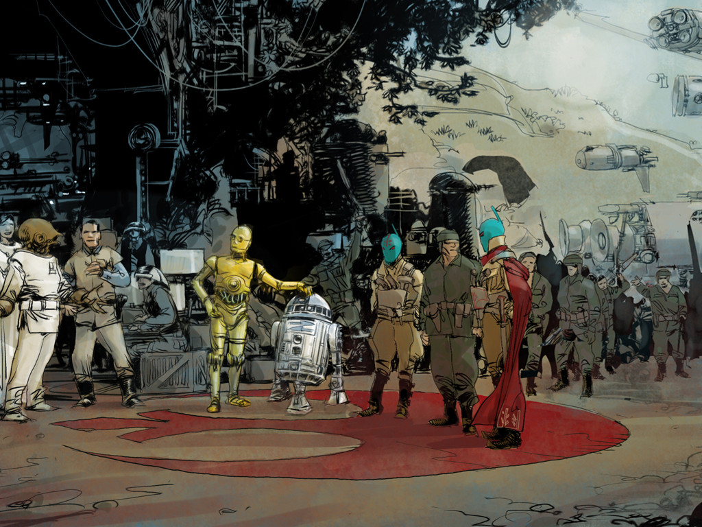 Star Wars Wallpaper: Droids and the Rebellion (by Mario Alberti)