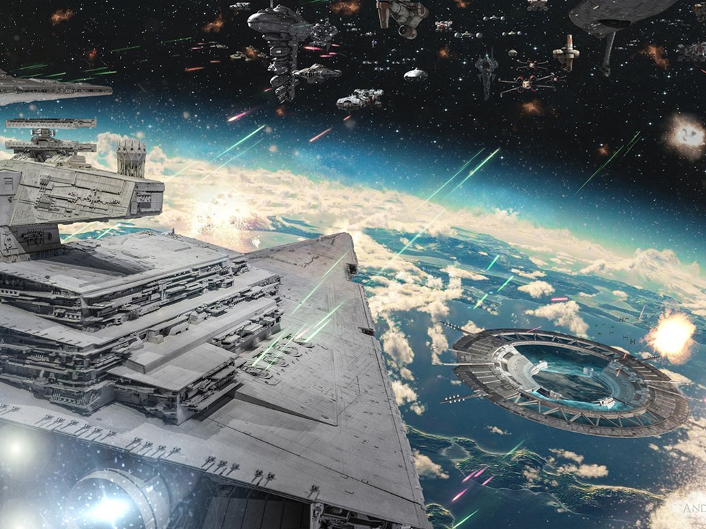 Star Wars Wallpaper: Massive Battle