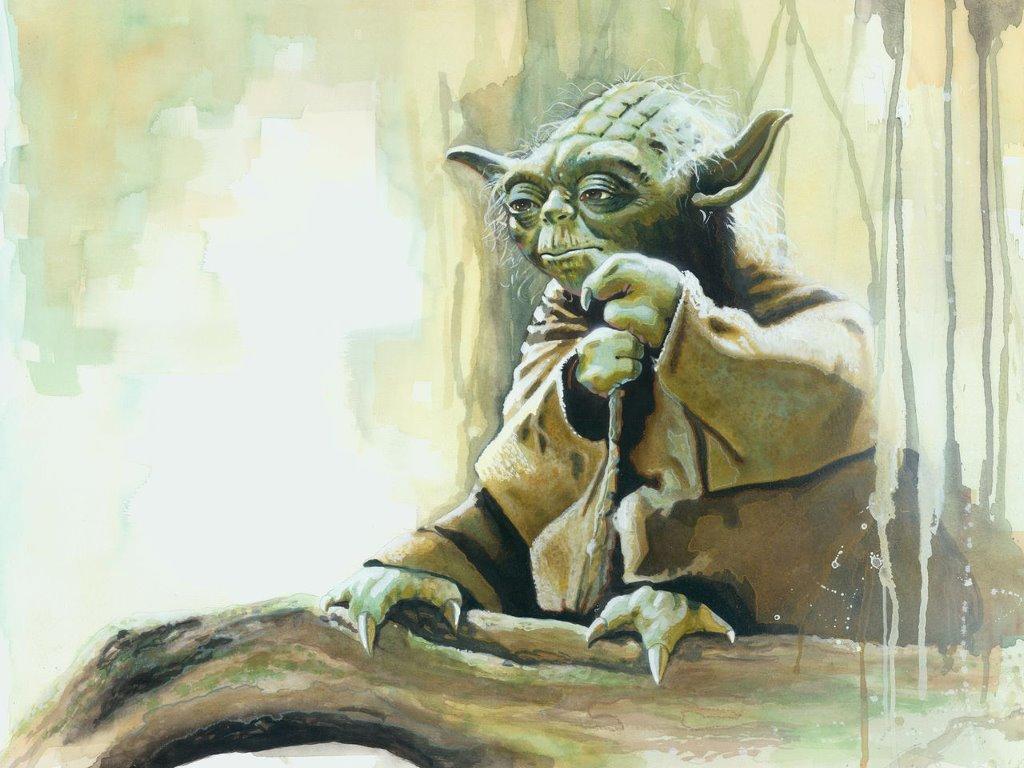 Star Wars Wallpaper: Master Yoda (by Brian Rood)