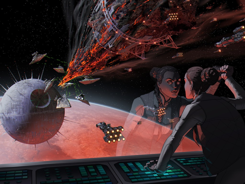 Star Wars Wallpaper: Matt Rhodes - Death Star III