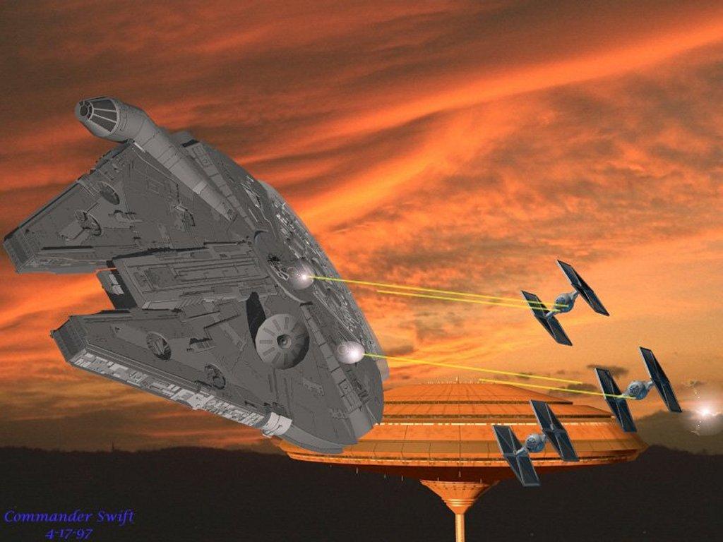Star Wars Wallpaper: Millenium Escapes