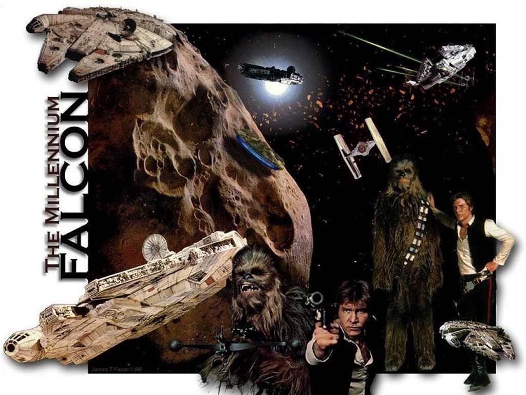 Star Wars Wallpaper: Millenium Falcon - Collage